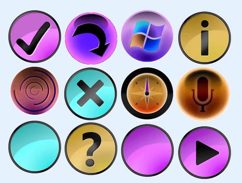 紫色的返回箭头图标png图片素材