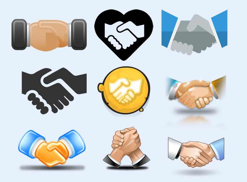 商务合作握手图标png图片素材 - 爱图网设计图片素材