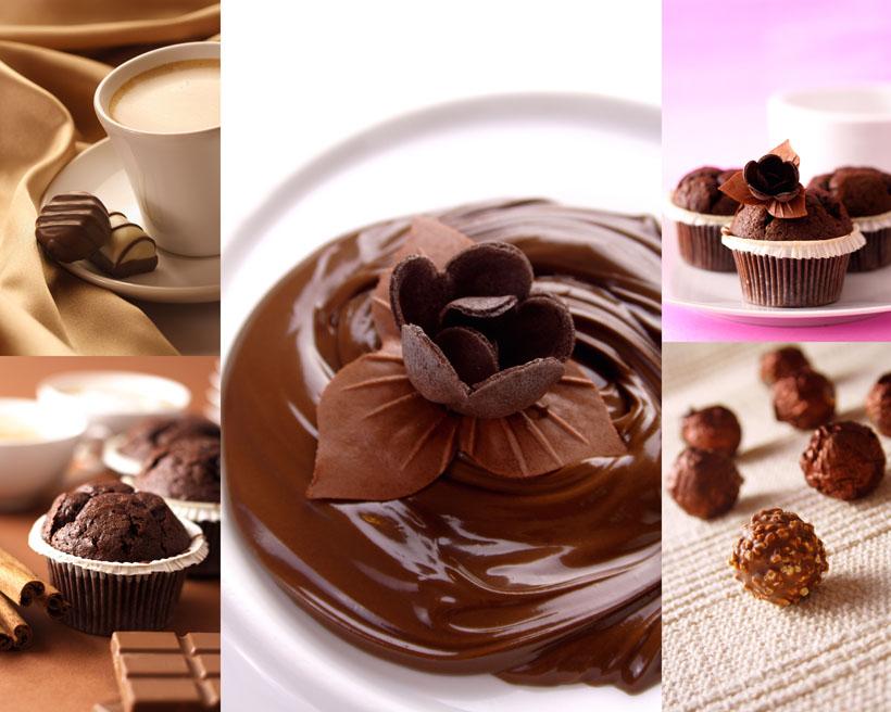 【巧克力甜品食物摄