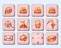 粉紅背景圖標PNG圖片素材