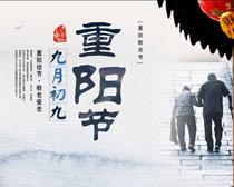 九月初九重阳佳节海报设计PSD素材