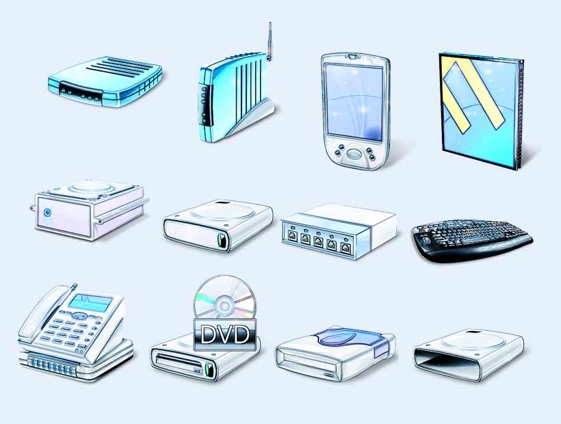淡蓝色的蓝光手机PNG图片素材