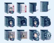 藍色封面的圖標PNG圖片素材