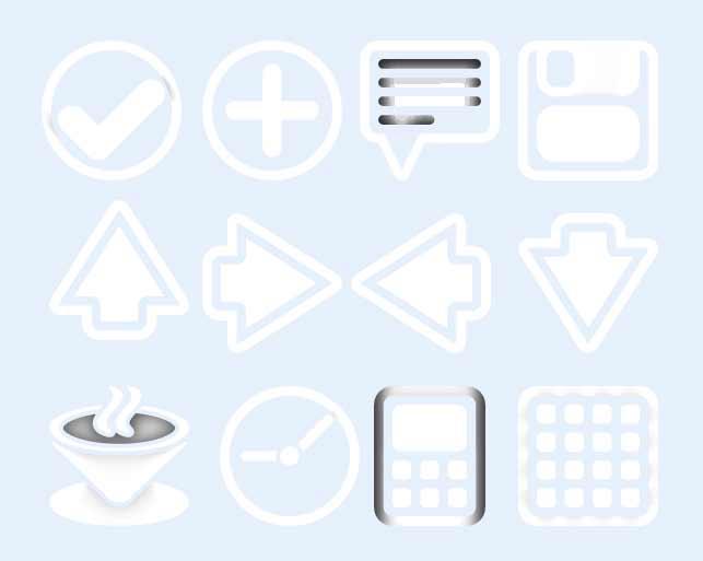 白色的对话框图标png图片素材