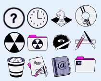 簡約風格的時鐘圖標PNG圖片素材
