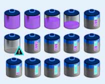 蓝色的电池图标PNG图片素材