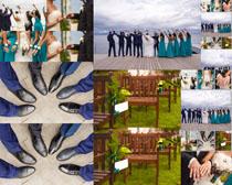 浪漫的集体婚纱摄影高清图片