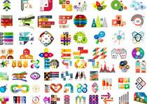 创意数字标签设计矢量素材