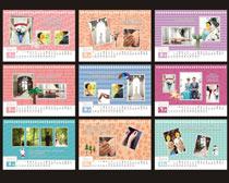 2016相册模板台历设计矢量素材