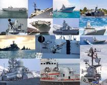 軍艦航海武器攝影高清圖片