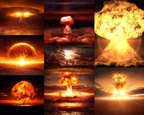 導彈爆炸效果攝影高清圖片