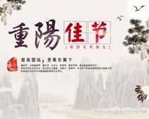重阳佳节海报背景设计PSD素材