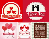 浪漫的爱心背景矢量素材