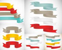 炫彩彩带和网页标签设计矢量素材