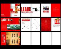 红色时尚企业画册设计PSD素材