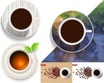 咖啡杯子设计尺量素材