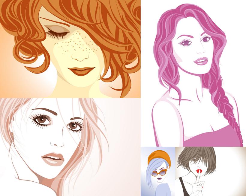 欧式美发店手绘图