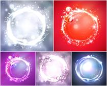 水晶球背景矢量素材