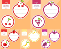 水果便签设计矢量素材