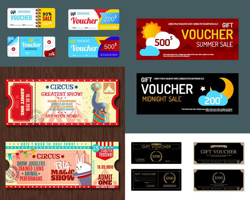 矢量促销设计标签门票小房设计超间素材图片
