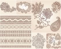 花纹图案设计矢量素材