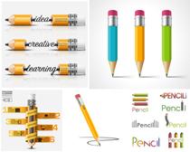 学习文具铅笔矢量素材