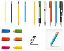 彩色铅笔文具矢量素材