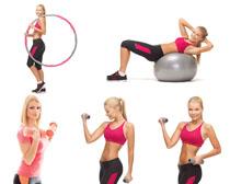 体能运动的女人摄影高清图片