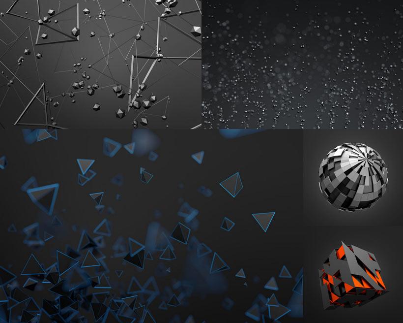 3d立体背景矢量素材 - 爱图网设计图片素材下载