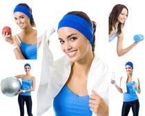 有氧健身女子摄影高清图片
