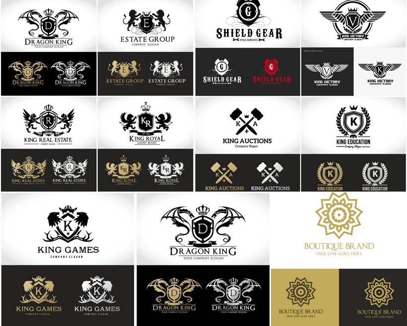 创意翼龙logo设计矢量素材图片