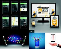 智能手机桌面设计矢量素材