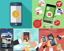 智能手机购物矢量素材