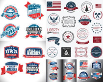 創意美國元素標簽矢量素材