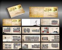 同学纪念册设计矢量素材