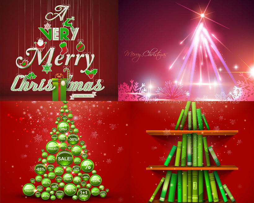 创意的圣诞树装饰矢量素材