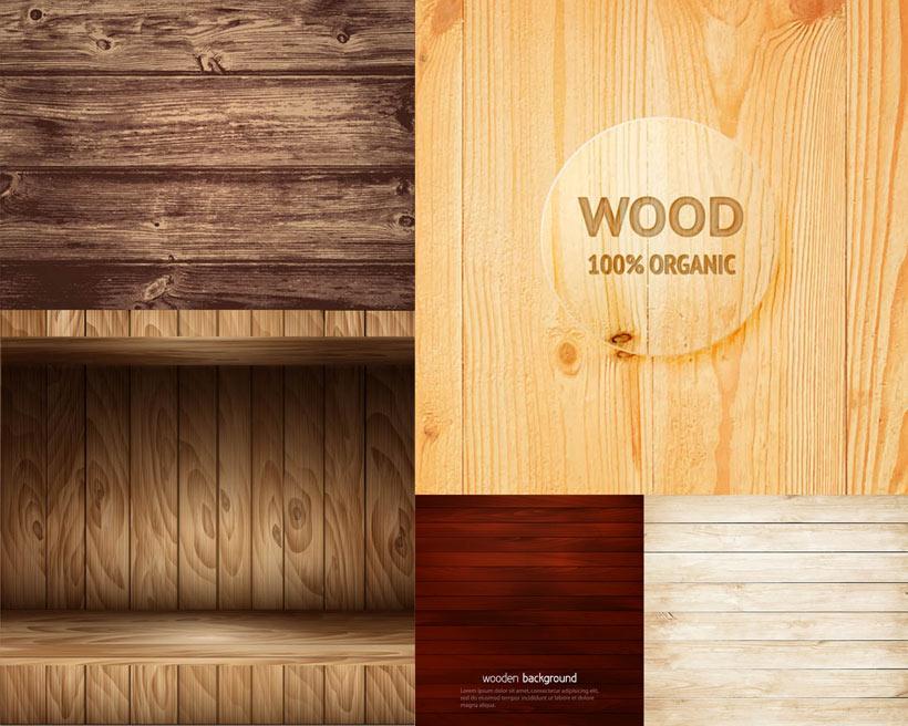 木地板纹理背景设计矢量素材