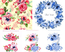 水墨繪畫花朵攝影高清圖片