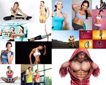 国外健身男女拍摄摄影高清图片