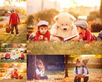 阳光小男孩摄影高清图片