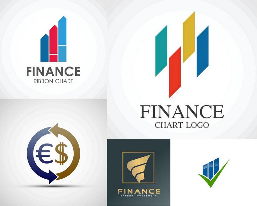 个性金融图案标志LOGO矢量素材