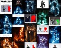 照片添加绚丽的闪电装饰效果PS动作