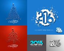 圣诞雪花个性设计矢量素材