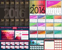 抽象几何日历封面设计矢量素材