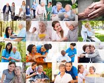 关爱老人健康摄影高清图片