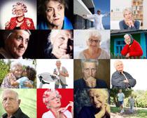 国外气质老人摄影高清图片