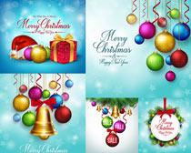 圣诞吊球元素光斑树枝矢量素材