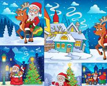 卡通风格的圣诞老人矢量素材