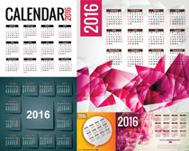 2016粉色日历设计矢量素材