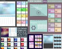 2016黑色日历版式矢量素材